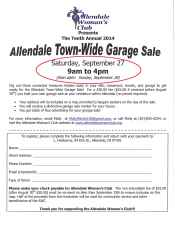 Town Wide Garage Sale Registration Form