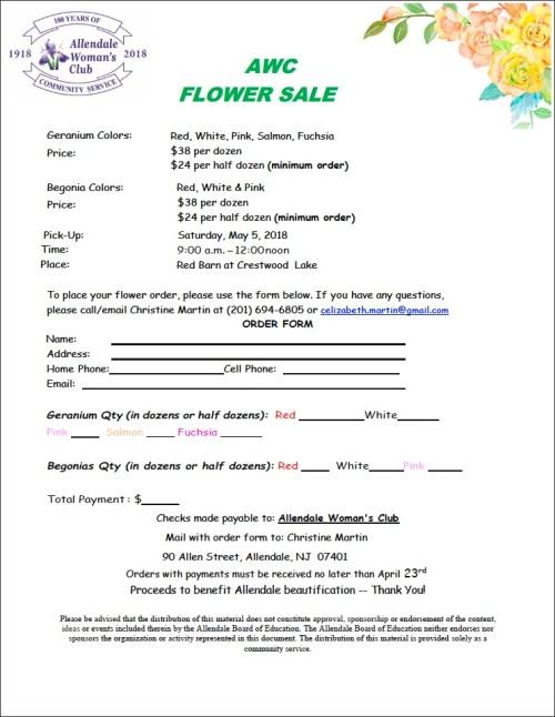 Flower Sale order form